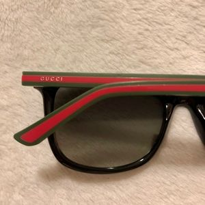 Gucci Sunglasses Signature Logo Web & Rubber